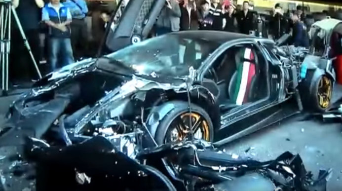 Власти Тайваня нестали церемониться снарушителем иуничтожили его спорткар