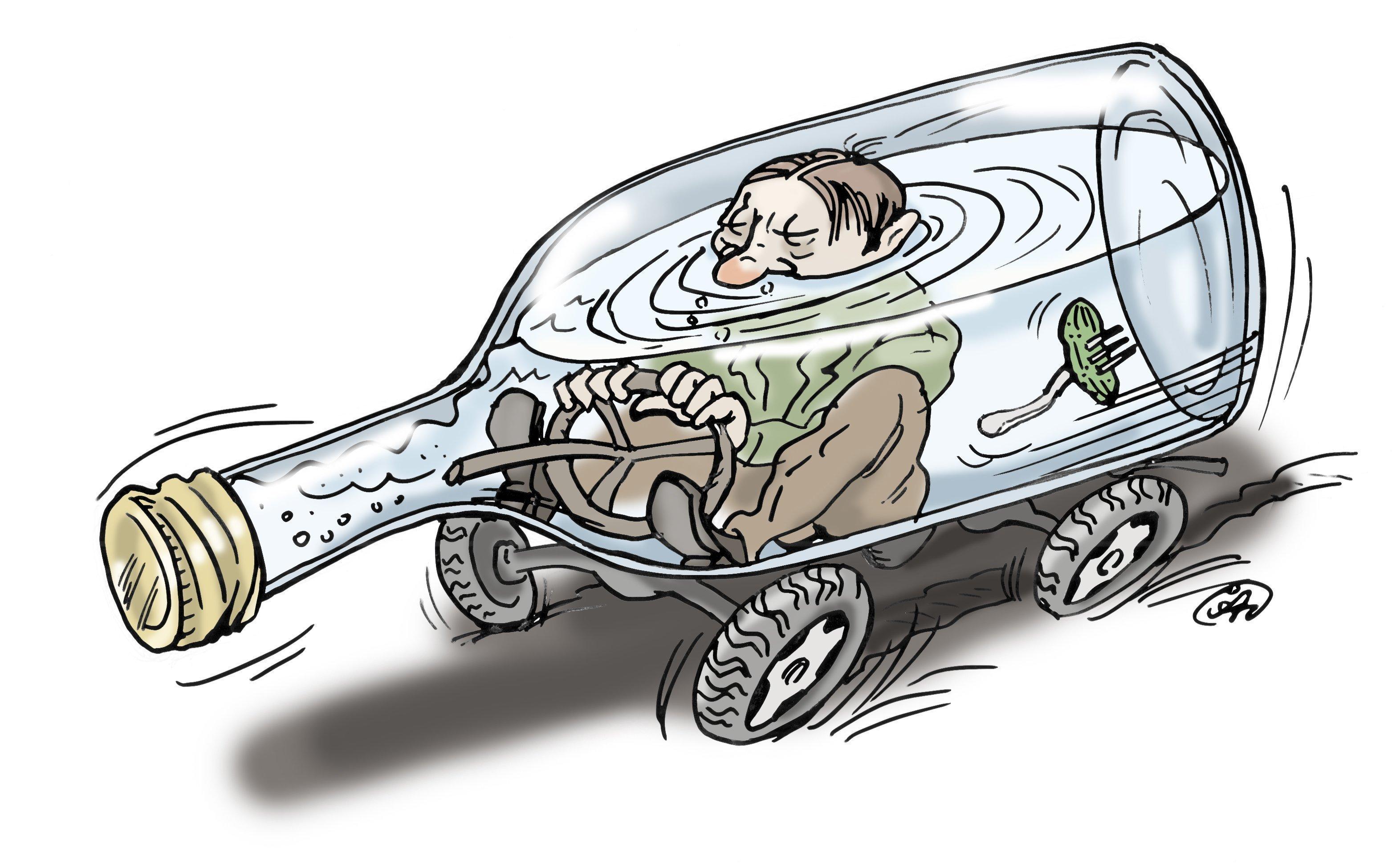 Смешные рисунки водителей за рулем